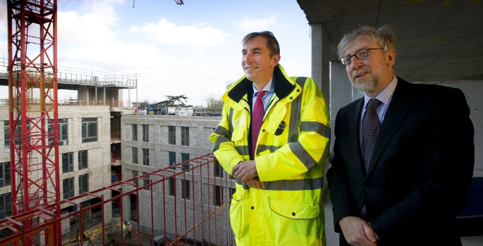 Osborne and Roehampton Celebrate Topping out University Business