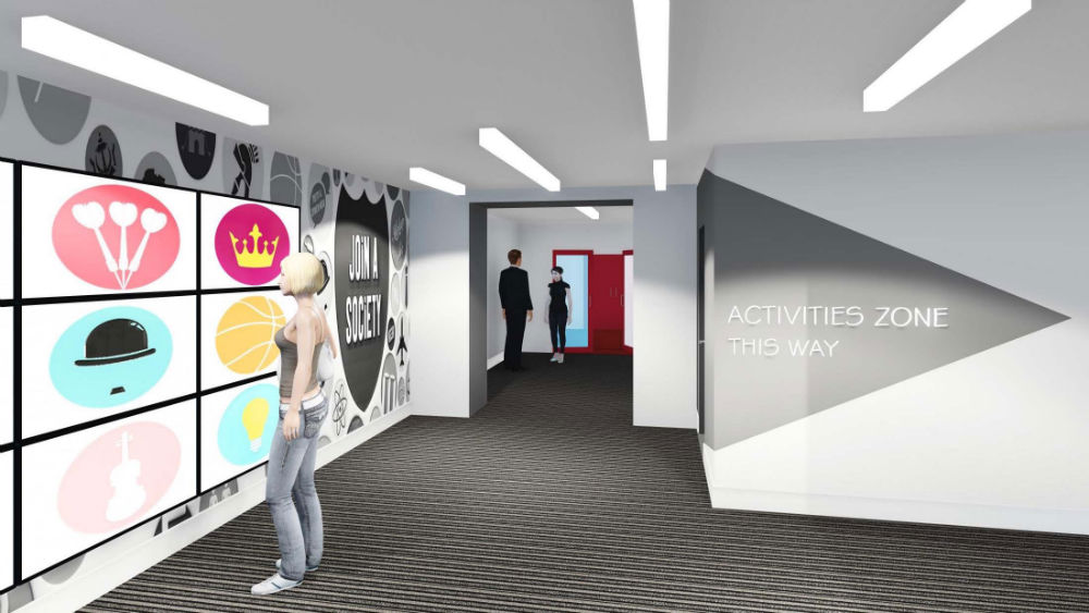 Computer Generated Artists Impressions Showing The New Hub For Student Life Being Created At University Of Nottinghams Portland Building