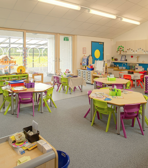 New Classroom Design ~ New swindon primary school completes early building