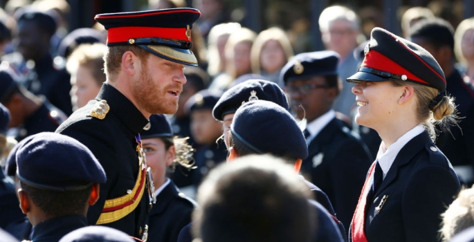 Military school on parade for Prince Harry | Academy Today