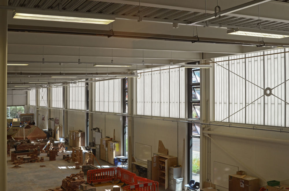 Even on cloudy days the interior is flooded with natural daylight which means less artificial lighting and because Kalwall is highly insulating ... & Daylight leads in Leeds College | Building 4 Education